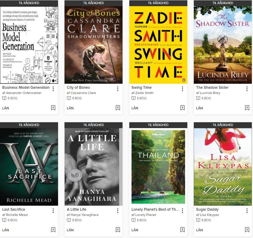 Populære e-bøger fra eReolen Global | eReolen