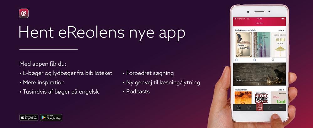 kampagnebillede for ny eReolen app 2019