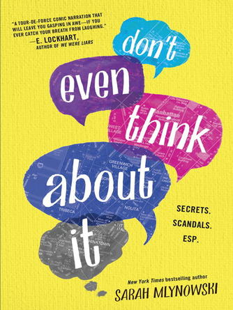 Sarah Mlynowski: Don't even think about it