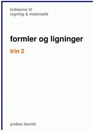Preben Bernitt: Formler og ligninger, trin 2