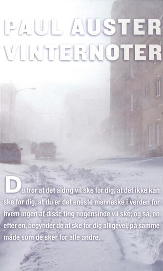 Paul Auster: Vinternoter