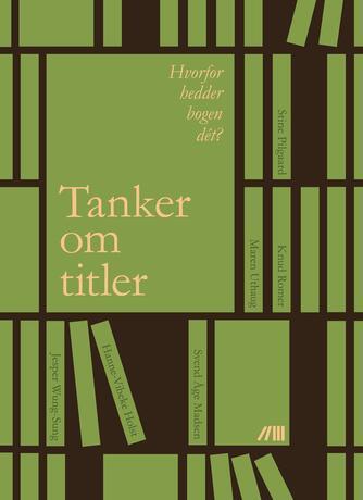 Jonas Knudsen (f. 1992-01-19), Sofie Holm Nielsen, Asger Nørkær Nielsen: Tanker om titler : hvorfor hedder bogen dét?