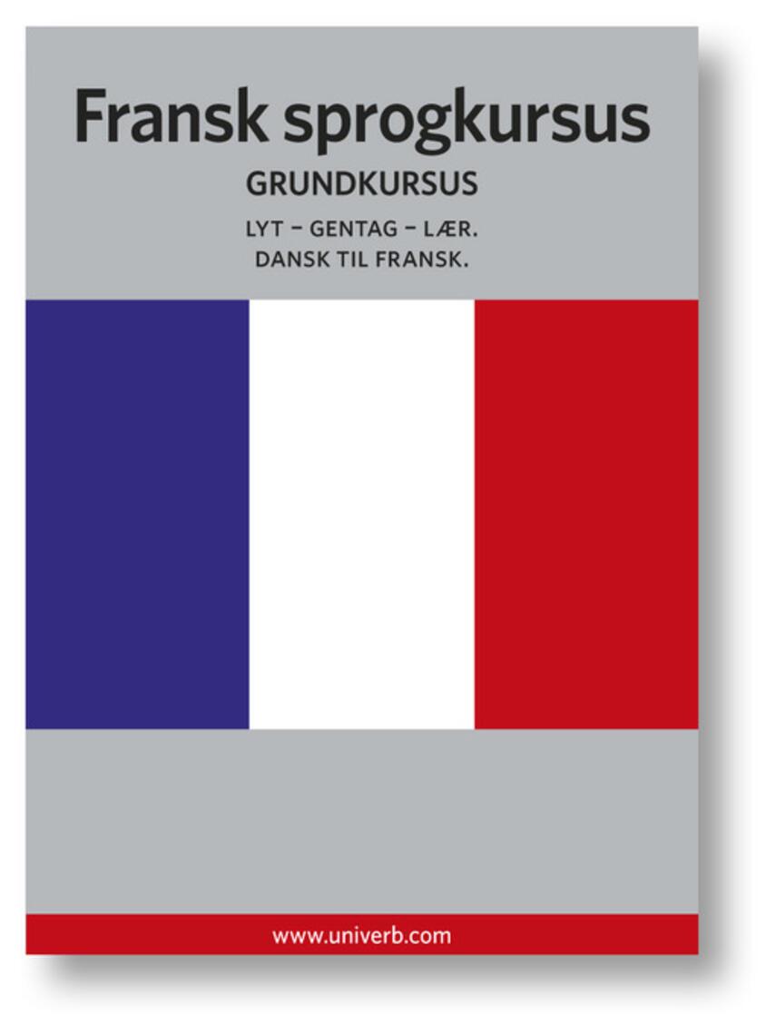 Ann-Charlotte Wennerholm: Fransk sprogkursus : Grundkursus