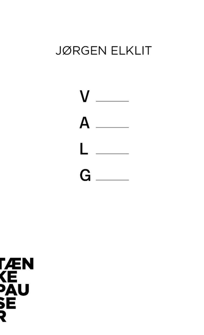 Jørgen Elklit: Valg