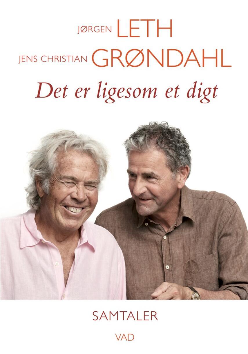 Jørgen Leth, Jens Christian Grøndahl: Det er ligesom et digt : samtaler