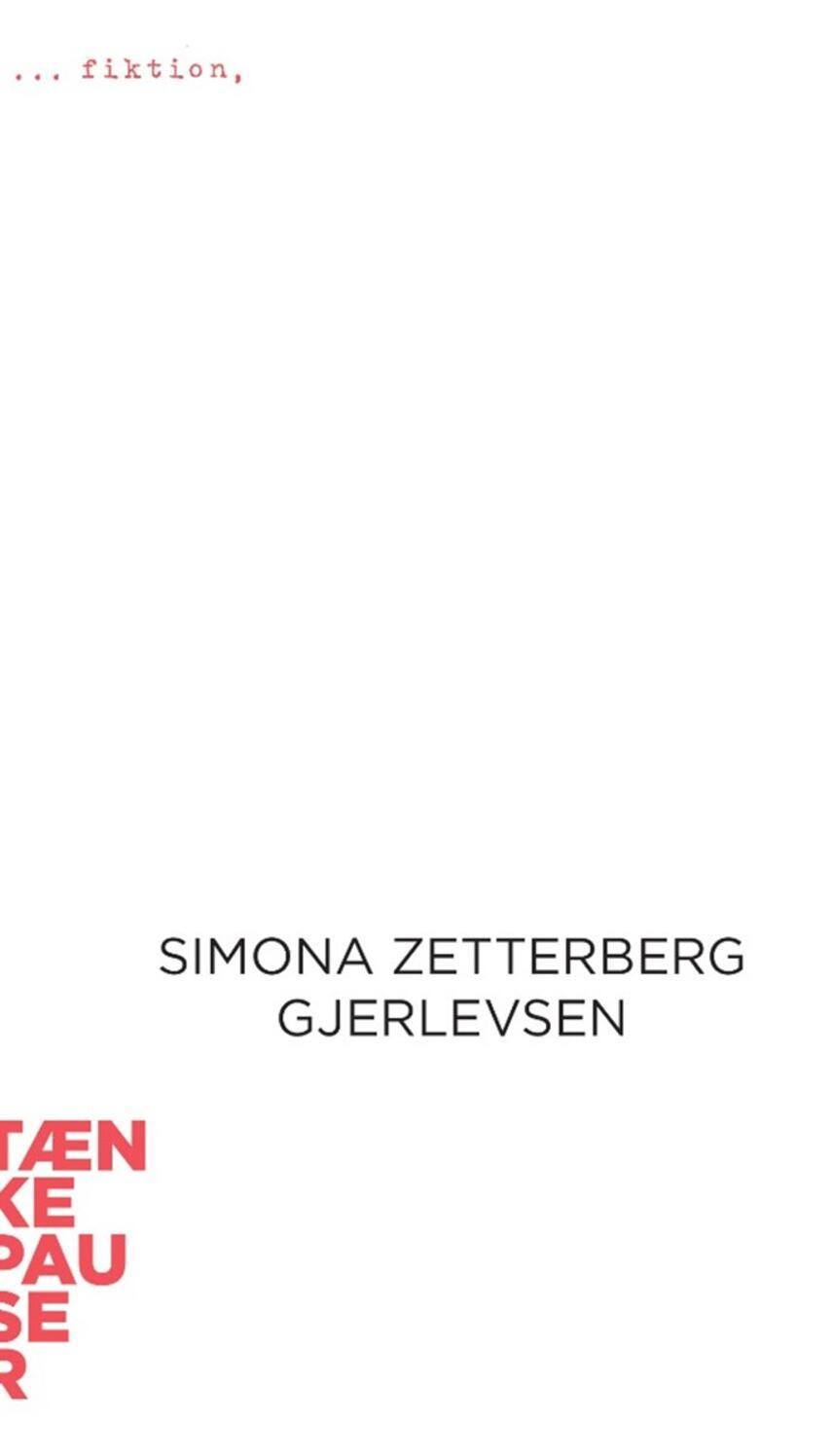 Simona Zetterberg Gjerlevsen: Fiktion