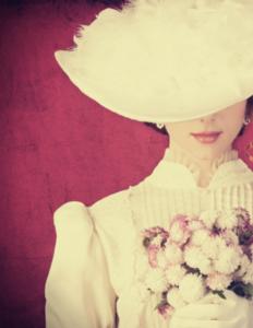 victoriansk kvinde med har for øjnene